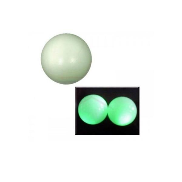 Balle plastique fluorescente