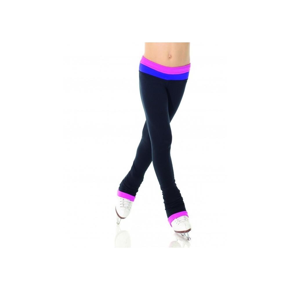 Pantalon MONDOR noir bande contrastante femme