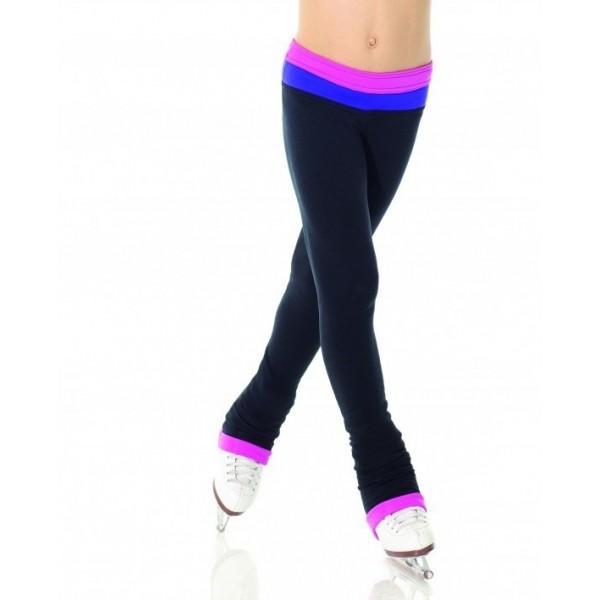 Pantalon MONDOR noir bande contrastante fille