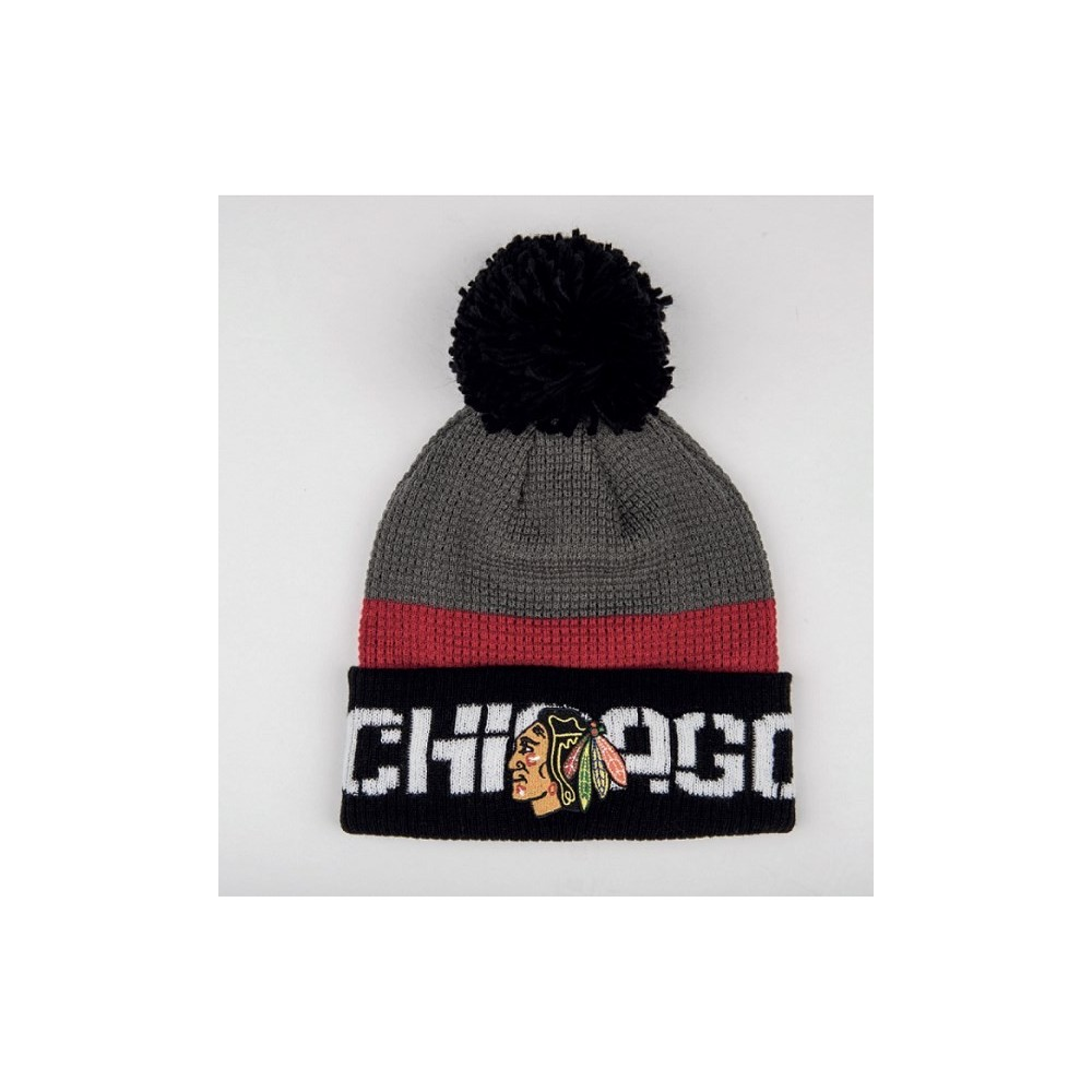 Bonnet NHL REEBOK Cuffed Team Pom Knit pompon