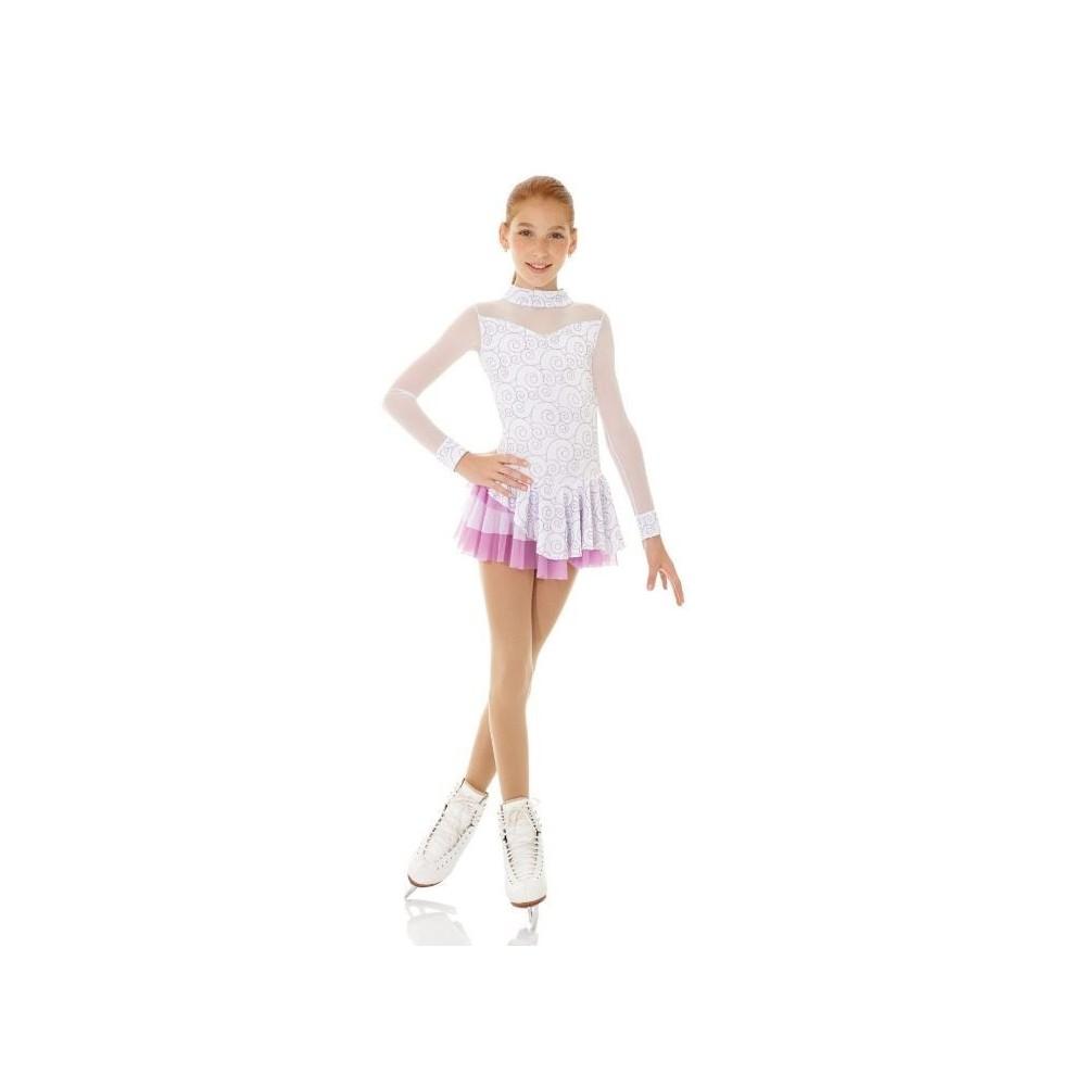 Tunique MONDOR 2752 velours blanche/rose enfant