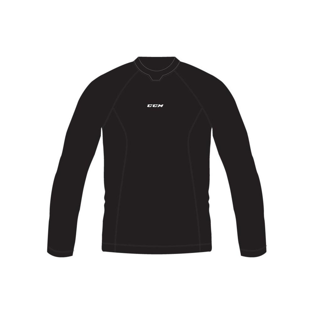 Tee-shirt CCM Performance Compression noir junior manche longue