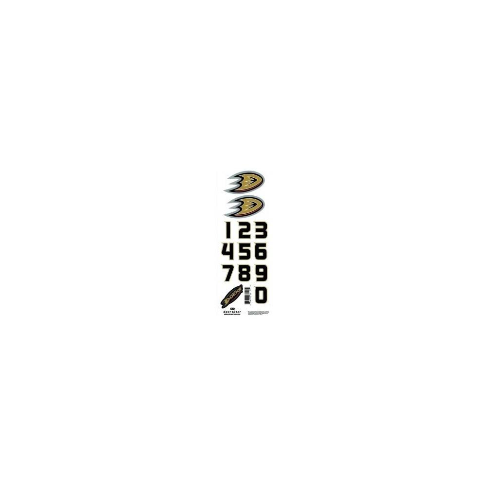 planche stickers numéro/logo NHL